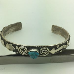 Jewelry - Native Alex Sanches Sterling Turquoise Bracelet